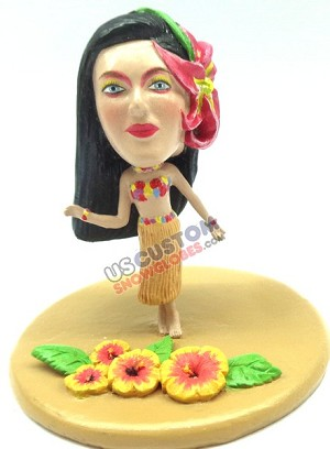 Custom Snow Globe | Woman Polynesian Dancer
