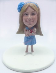 Custom Snow Globe | Female With A Generic Baby