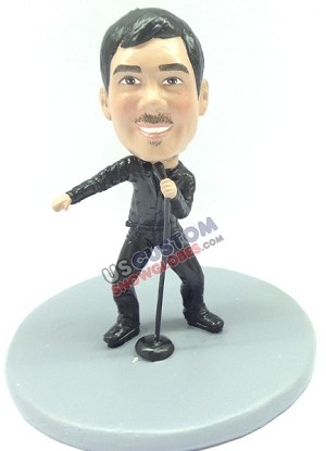 Custom Snow Globe | Male Singer 2
