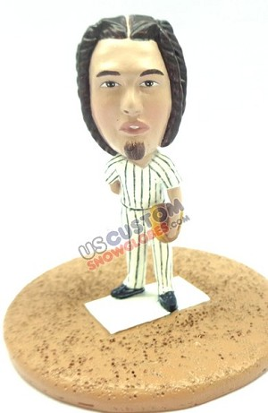 Custom Snow Globe | Male Baseball Pitcher 1