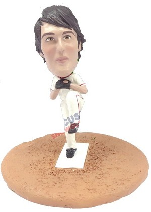 Custom Snow Globe | Male Baseball Pitcher 2