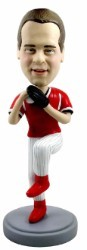Baseball pitcher action pose custom bobble head doll  2