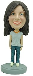 Casual Female custom bobble head doll 2