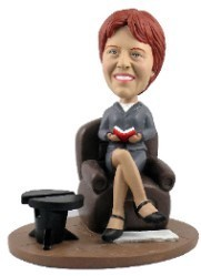 Dignified Office Lady custom bobble head doll