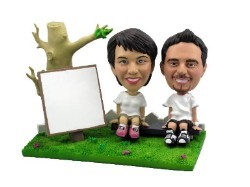 Park Day couple custom bobble head doll