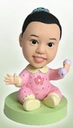 Baby Girl custom bobble head doll