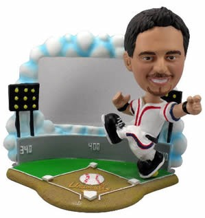 Baseball Player with Frame personalized bobble head doll
