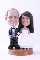 Wedding couple custom bobble head doll  Premium 4