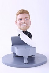 Male Piano Player personalized bobble head doll