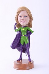 Super girl 3 custom bobble head doll Premium