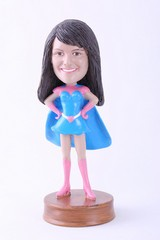 Super girl 6 custom bobble head doll Premium