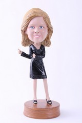 Girl office custom bobble head doll Premium