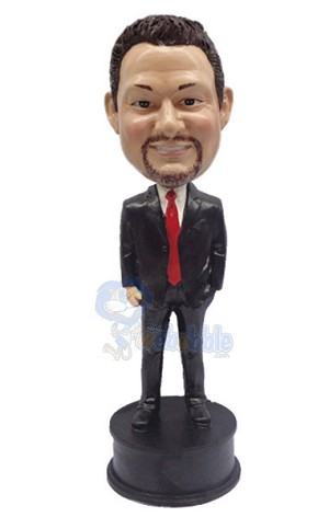 Hand in Pocket custom bobble head doll