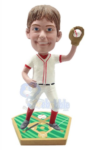 Baseball fielder custom bobblehead