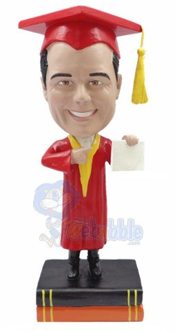 Graduation custom bobble head doll 5