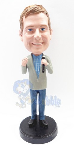 Singing male custom bobble head doll Premium 2