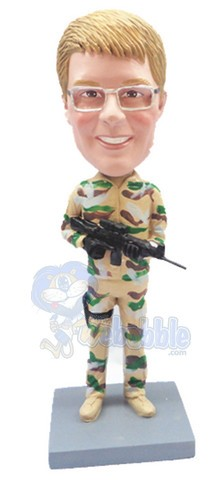 Military custom bobble head doll 6