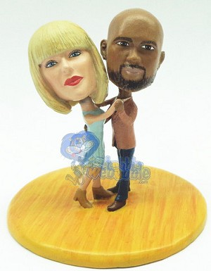 Dancing couple custom bobble head doll Premium