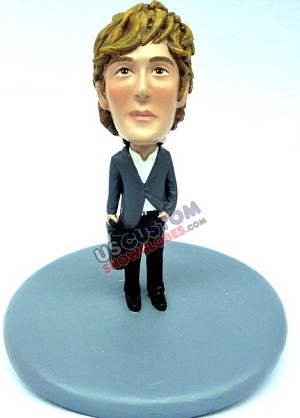 Male in suit w/briefcase personalized snow globe