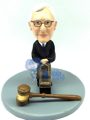 Judge male with a chair and gavel custom bobble head doll Premium