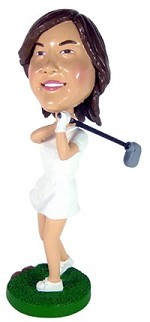 Golfing Lady custom bobble head doll