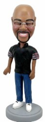 Man in jeans custom bobble head doll