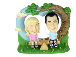 Love couple custom bobble head doll