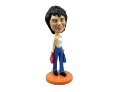 Shopping girl custom bobble head doll