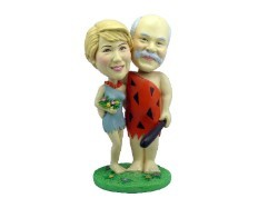 Yabba Dabba Doo couple custom bobble head doll