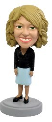 Office worker Nice Dress custom bobble head doll