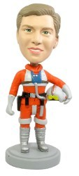 Male pilot suit bobble head doll