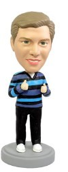 Thumbs Up custom bobble head doll