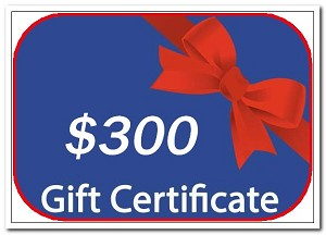 Gift certificate $300.00