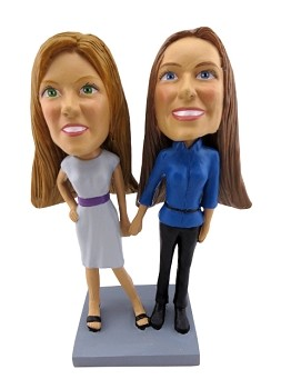Same Sex couple custom bobble head doll 1