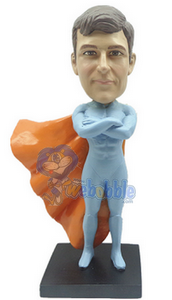 Man with cape custom bobble head doll