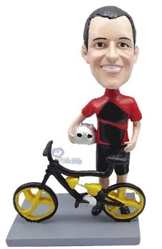 Man Bicycle-Rider custom bobble head doll 4