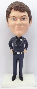 Police man personalized bobble head doll 2