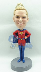 Super Girl custom bobble head doll
