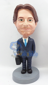 custom bobble head doll man with Briefcase 3