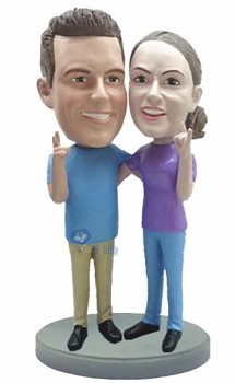 Happy couple custom bobble head doll
