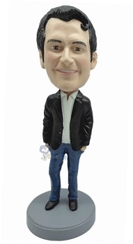 Casual Male in jeans custom bobble head doll 5