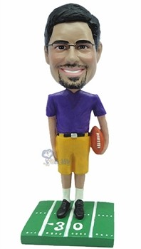 Football custom bobble head doll 8