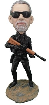 Police man personalized bobble head doll SWAT