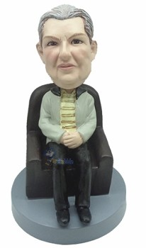 Male in chair custom bobble head doll