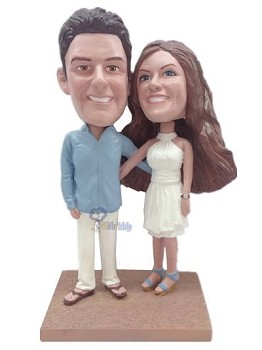 Happy couple custom bobble head doll 4