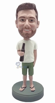 Man in shorts custom bobble head doll 4