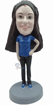Casual Female custom bobblehead9