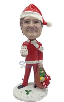 Santa with toys custom bobblehead Premium