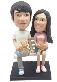 Happy couple custom bobble head doll 7