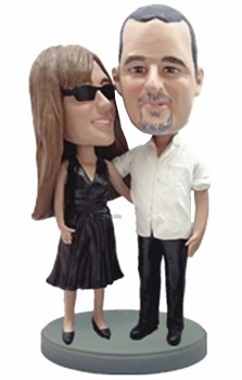 Happy couple custom bobble head doll 8
